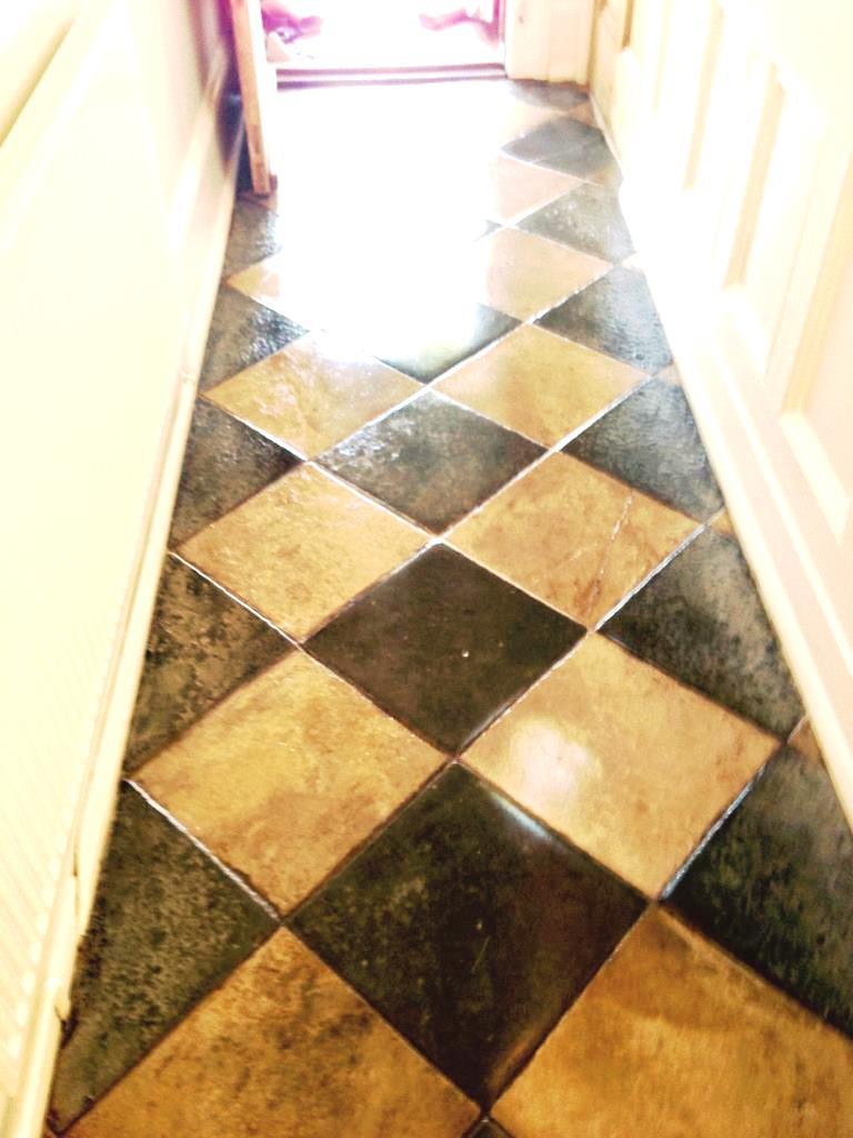 Limestone and Slate tiled floor after Restoration in Worcester