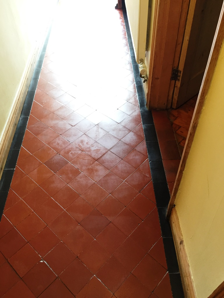 Quarry Tiled Hallway Worcester After Cleaning