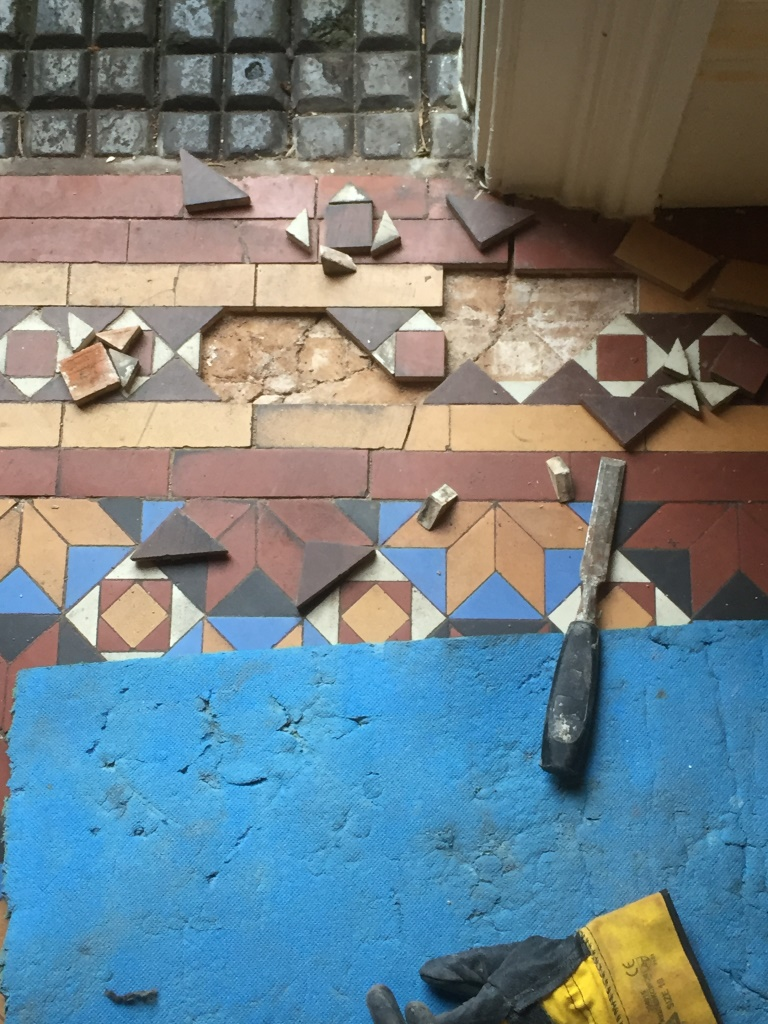 Victorian Floor Stourbridge Before Cleaning