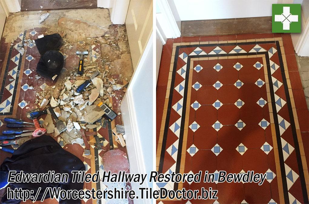 Damaged Edwardian Hallway Restoration in Bewdley