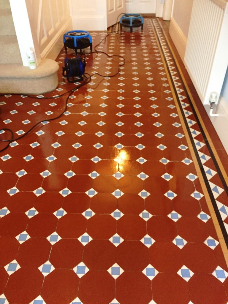Edwardian Tiled Hallway After Restoration in Bewdley