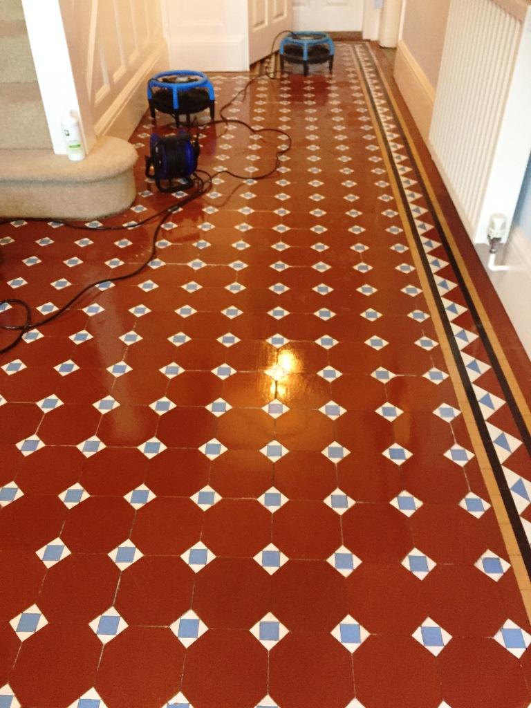 Edwardian Tiled Hallway After Restoration in Bewdley