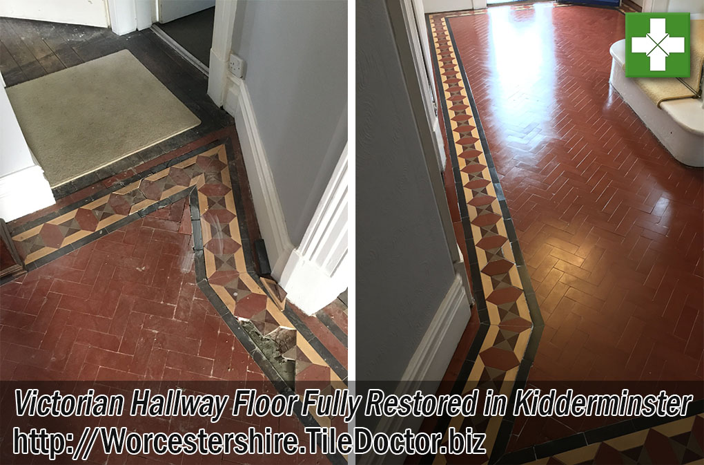 Victorian Hallway Before and After Restoration Kidderminster