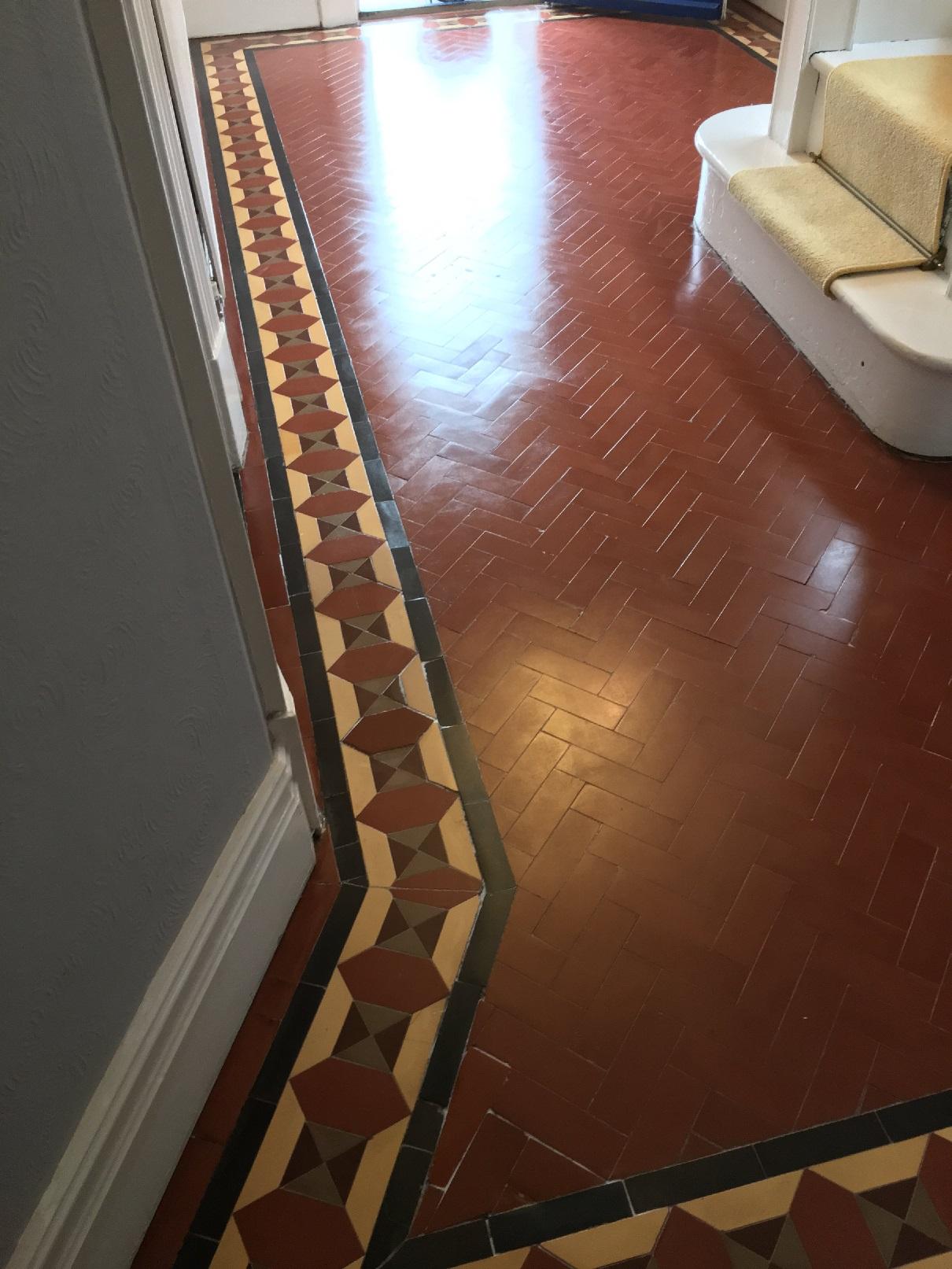 Victorian Tiled Floor After Restoration Kidderminster