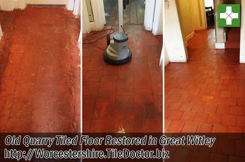 Old Quarry Tiled Floor Restoration Great Witley Worcestershire