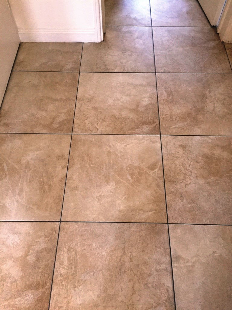 Large Porcelain Floor After Grout Colouring Kidderminster
