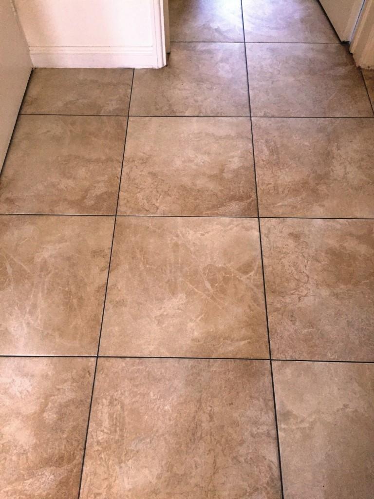 Large Porcelain Floor After Grout Colouring Kidderminster