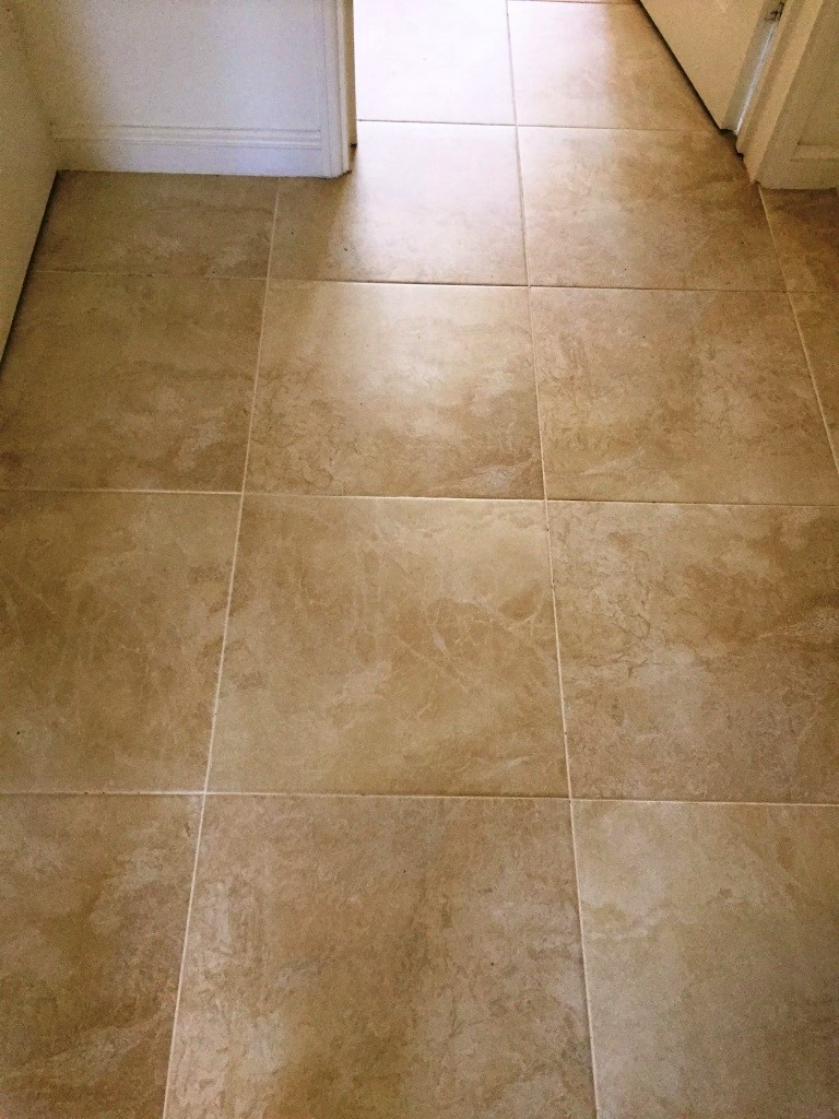 Large Porcelain Floor Before Grout Colouring Kidderminster