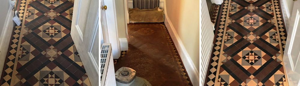 Craven Dunnill Victorian Floor Tile Clean and Repair Worcester
