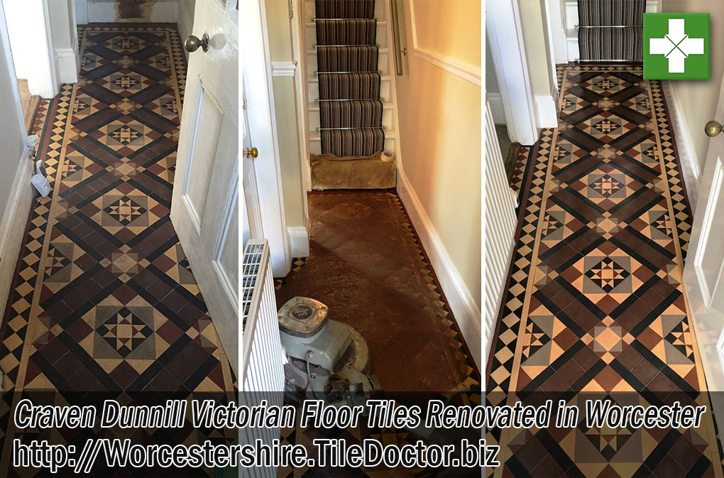 Craven Dunnill Victorian Floor Tiles Before After Renovation Worcester