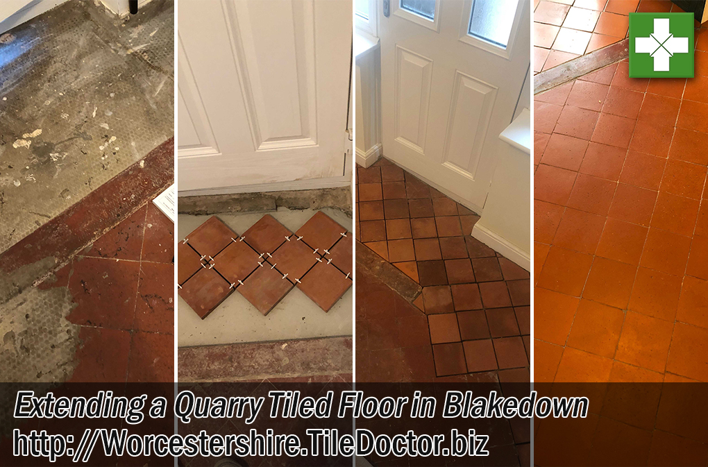 Quarry Tiled Floor Before After Extension Blakedown