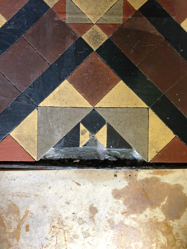 Victorian Tiled Hallway Floor During Repair Worcester