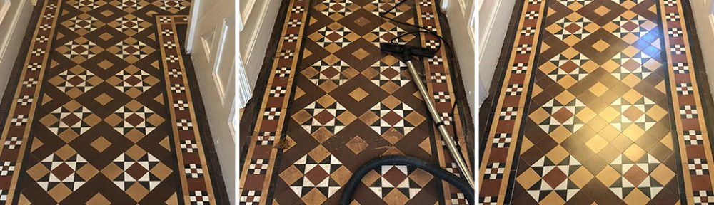 Victorian Tile Clean and Seal Evesham