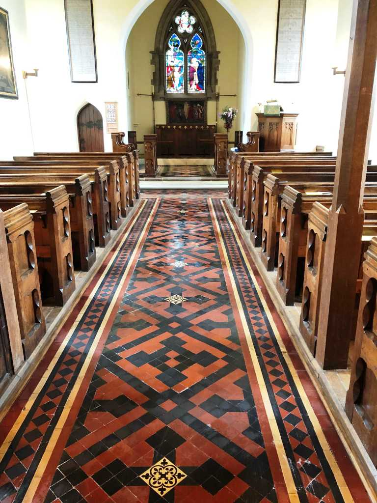 Victorian Floor After Cleaning St Michaels Church Rushock
