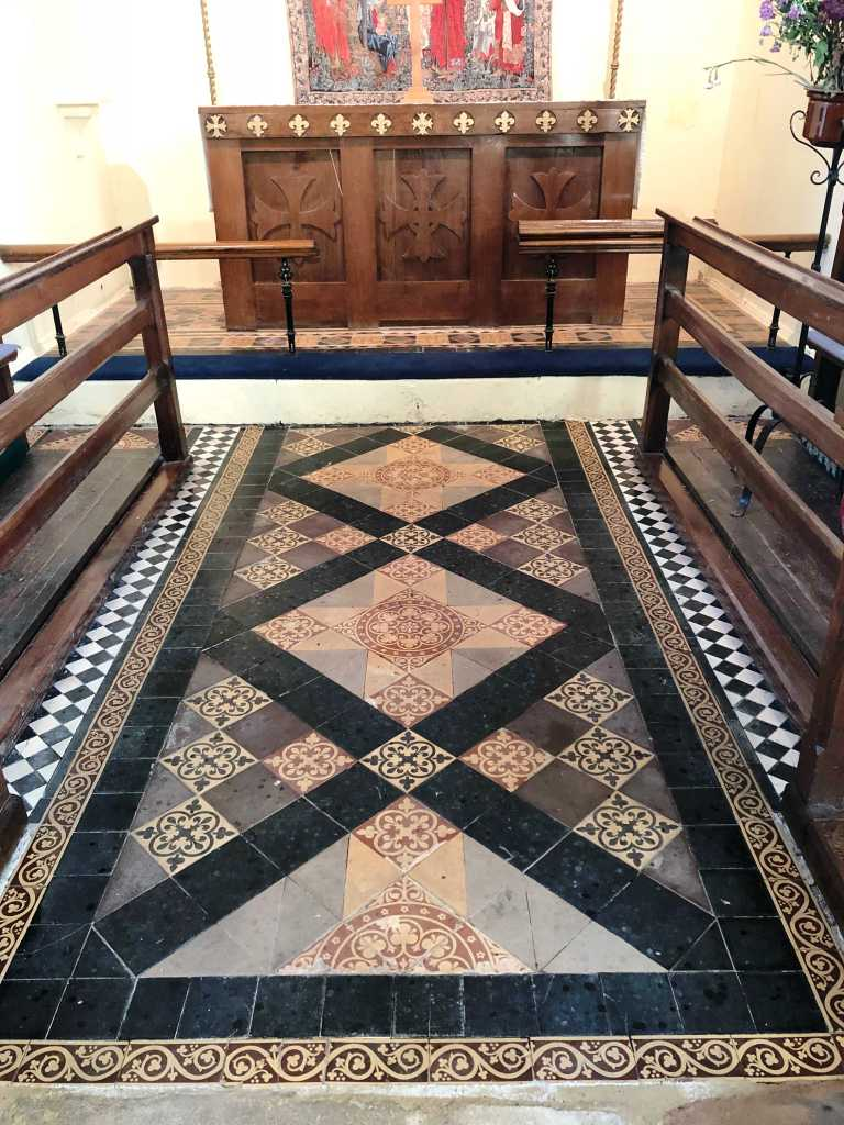 Victorian Floor Before Cleaning St Michaels Church Rushock