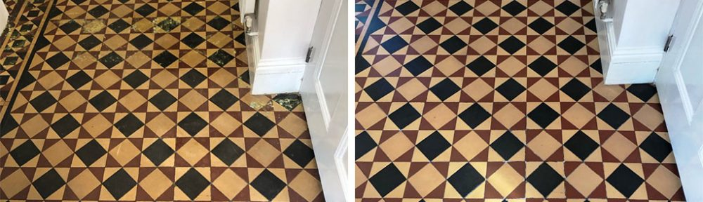 Minton Victorian Tiled Floor Restored in Kidderminster