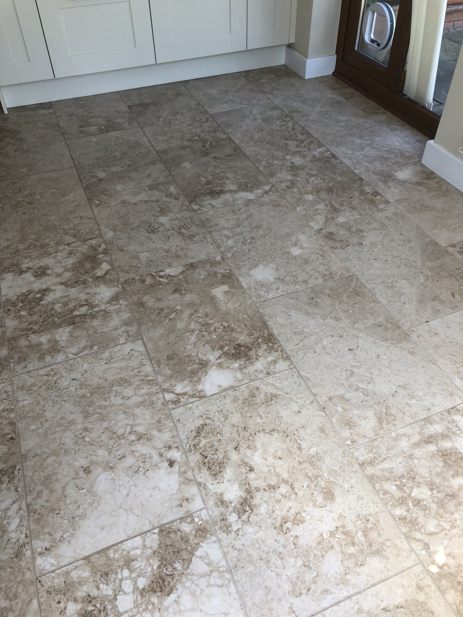 Marble Tiled Kitchen Floor Before Polishing Callowend