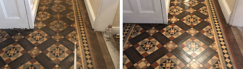 Restoration of a Victorian Minton Tiled Hallway Floor in Kidderminster