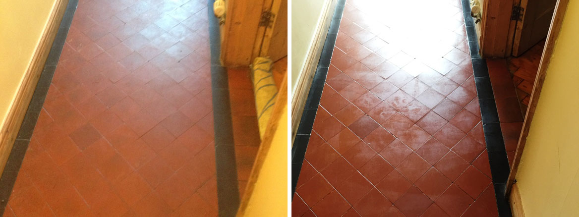 Old, Salt Damaged Quarry Tiled Ffloors Restored in Worcester
