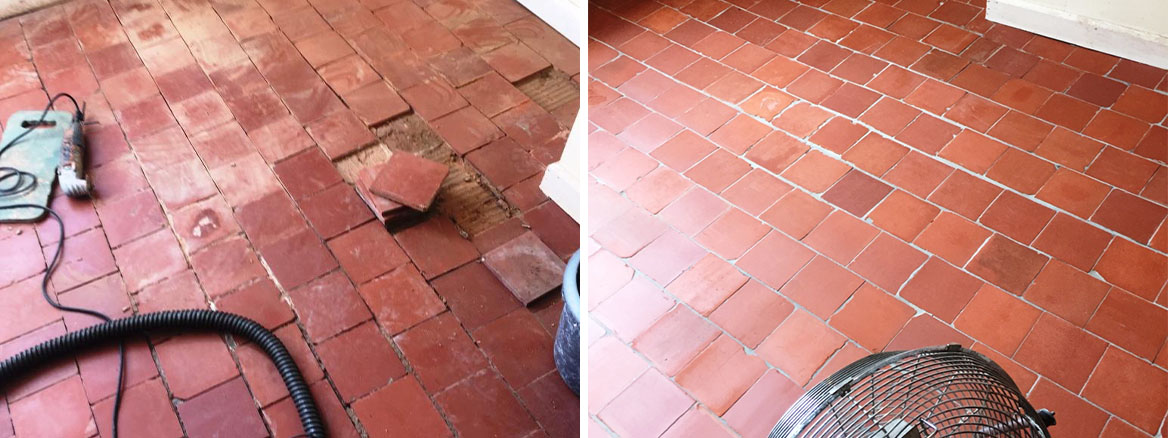 Restoring Quarry and Flagstone Tiles at a Worcester Farmhouse