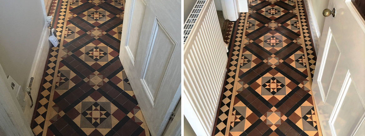 Victorian Floor Before and After Restoration Worcester