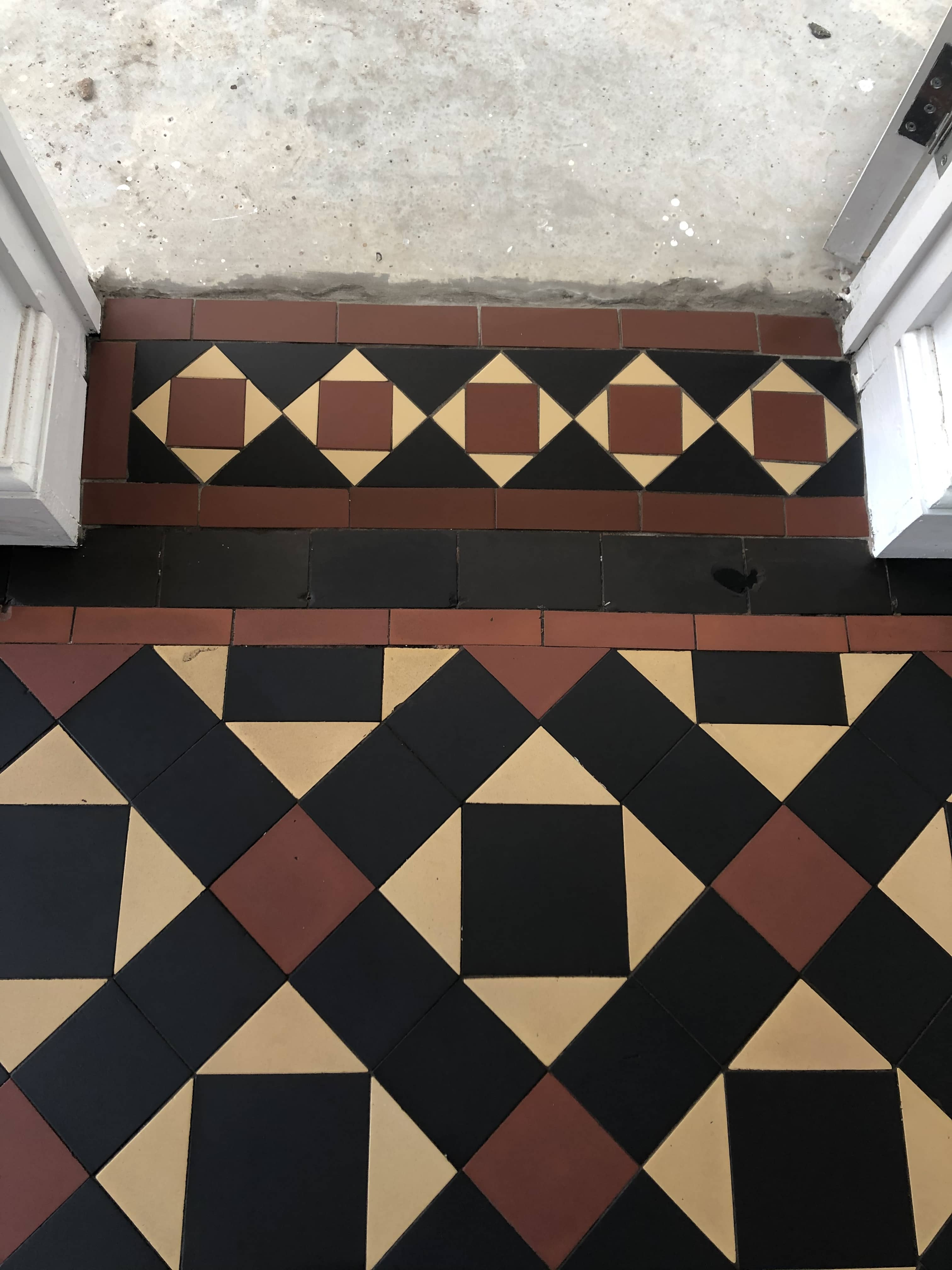 Victorian Hallway Floor After Renovation Malvern Hills