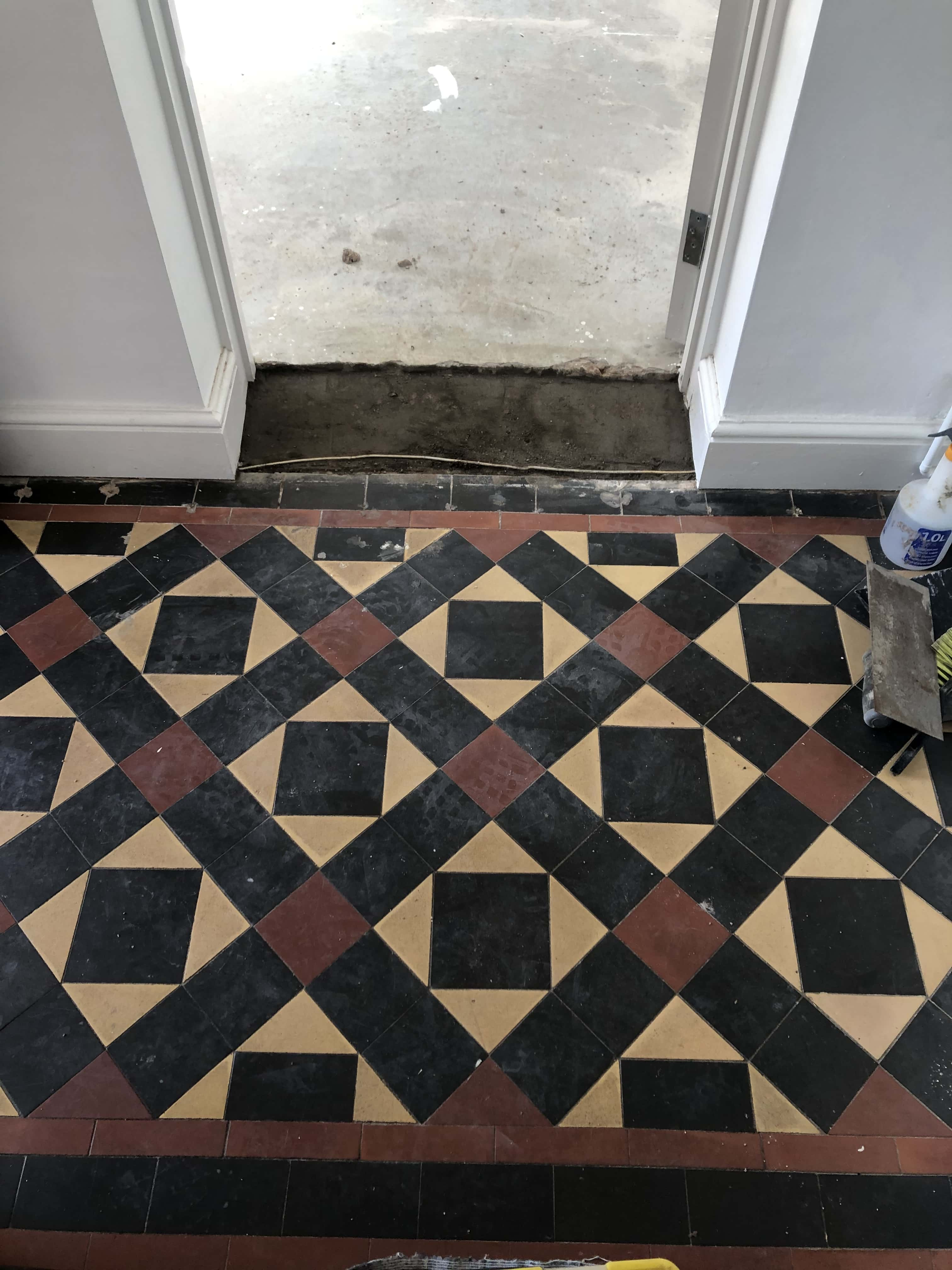 Victorian Hallway Floor Before Renovation Malvern Hills