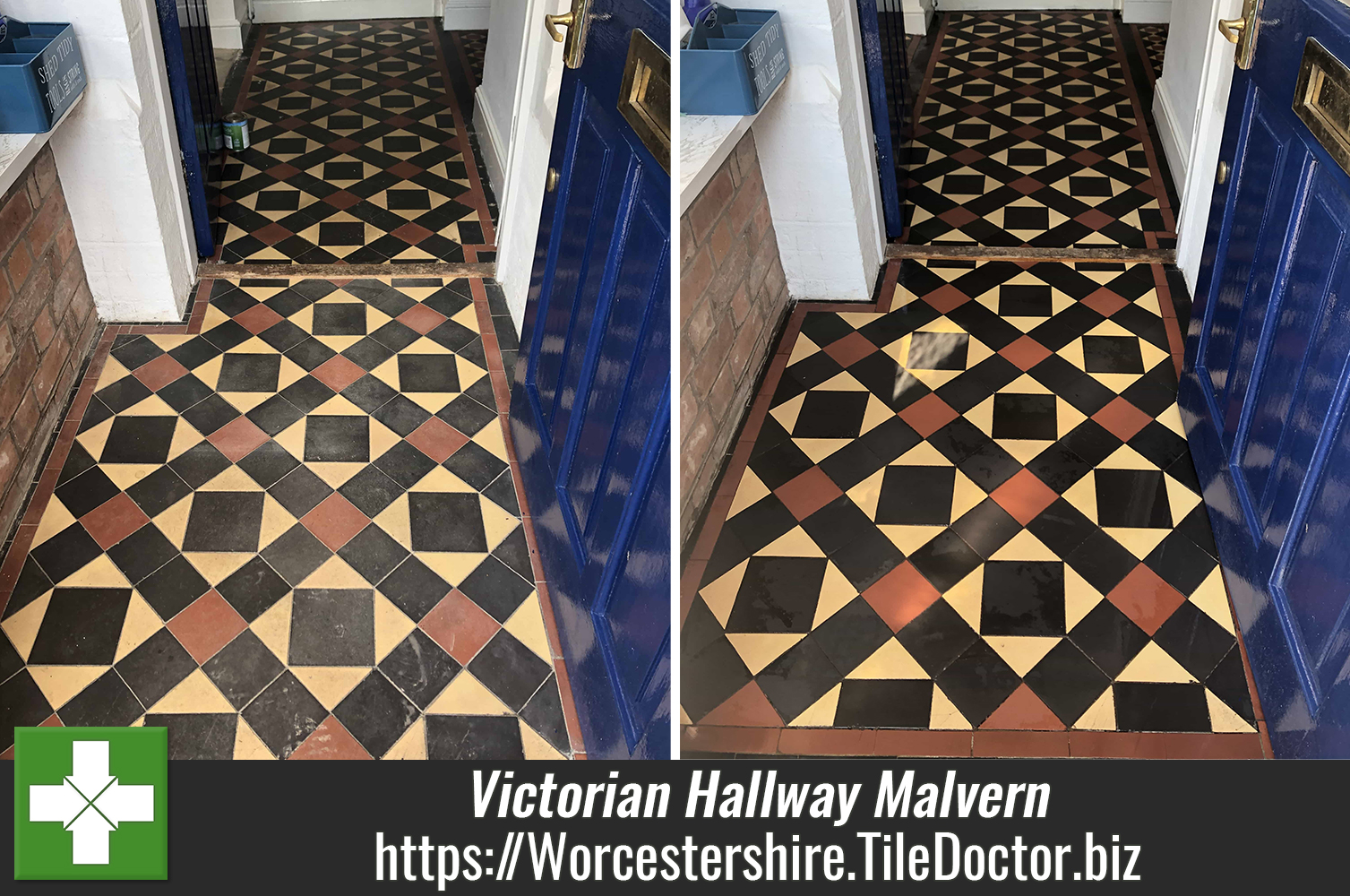 Victorian Tiled Hallway Floor Renovation Malvern